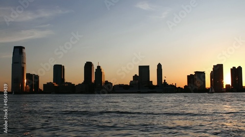 Timelapse New York Sunset City in Motion