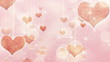 pink hearts dangling on strings and glares loop
