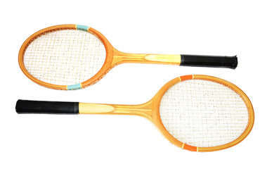 Tennis racket, isolated on white background