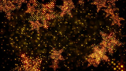 glittering stars and lights loop holiday background
