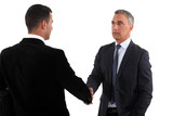 A business handshake