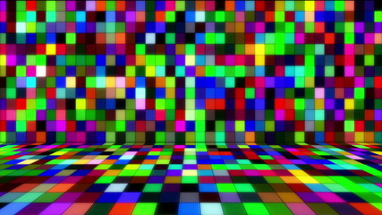 beaming multicolored squares musical loopable background