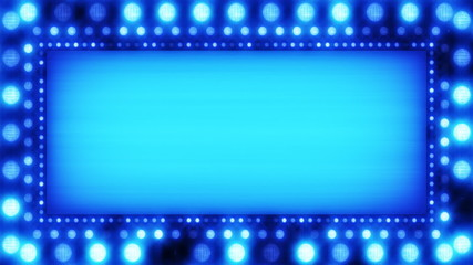flashing lights blue banner loop