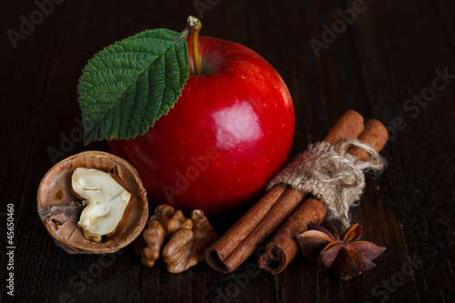 apple cider ingredients close up still life
