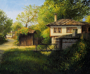 Late Afternoon in Village Bojenci
