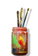 A jar of painting.
