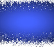 White snowflakes on blue background (VI)