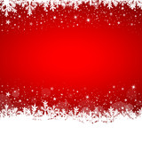 White snowflakes on red background (IV)