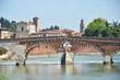 St. Peter bridge across Adige river. Verona, Italy