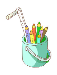 icon pencils