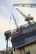 High rise construction site