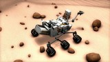 Artist recreation of Mars rover.
