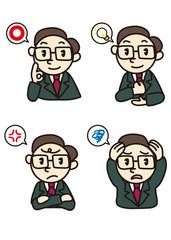 様々な上司の表情イラスト
