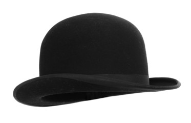 Men's hat on white background.