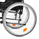Close up of a wheelchair - vehicle for invalid persons.