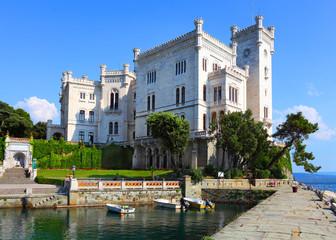 The Miramare Castle in Trieste. Italy.