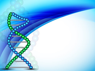 Abstract medical background with colorful DNA. EPS 10.