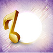 Abstract musical note. EPS 10.