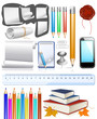 Back to school! Collection of education objects