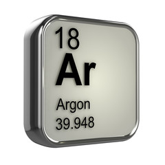 3d Periodic Table - 18 Argon