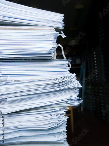 Stack of archive files