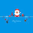 Sitting Christmas Santa & Symbols Iceblue