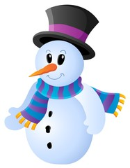 Winter snowman theme image 1