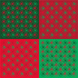 Gifts background in red&green