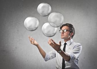 Juggling Businessman