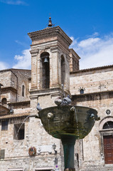 Monumental fountain. Narni. Umbria. Italy.