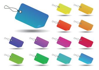 étiquettes multicolore concept