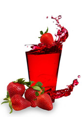 Strawberry splashing