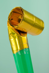 Party Blowout (Noise Maker) On Green Background