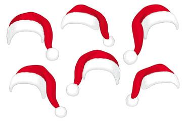 Weihnachtsmannmützen,diverse mit Fell