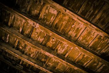 vecchio soffitto di legno