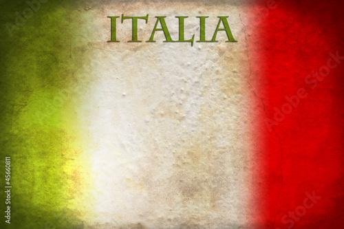 Deurstickers Groenten Italian flag