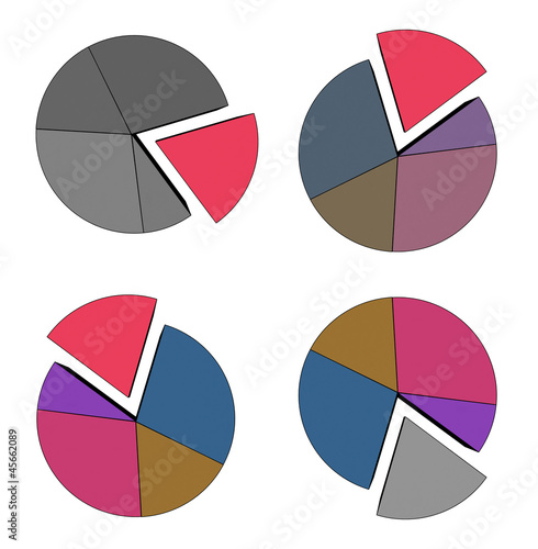 multicolor statistics - isolated on white background