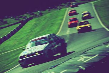 retro car race