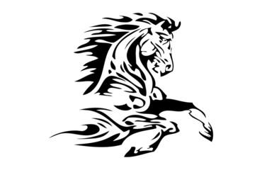 Pferdekopf Tribal Flammen