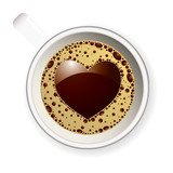Coffee cup love heart