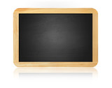 old blank blackboard isolated