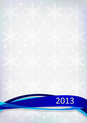 New Year's card on gray background and with inscription 2013.