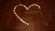 Heart shaped from candles with Stop motion