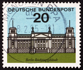 Postage stamp Germany 1964 Reichstag Building, Berlin