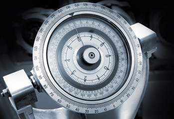 Naval gyrocompass monochrome closeup photo