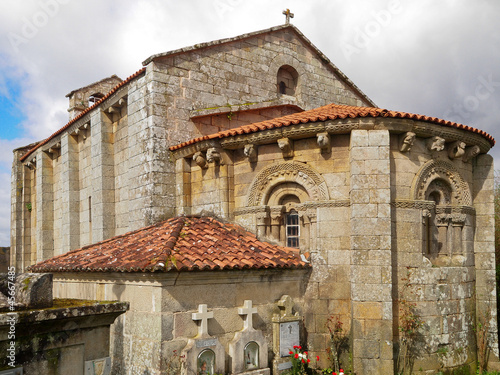 Romanesque church of Astureses in Galicia