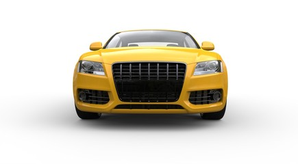 Yellow Business Car Front