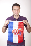 Young male Croatia fan