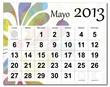 Spanish version of May 2013 calendar