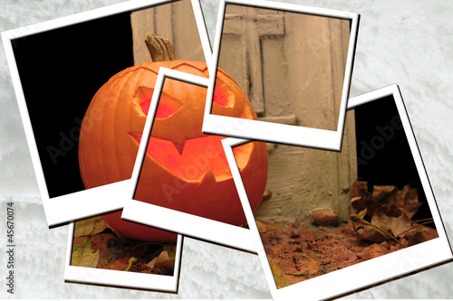Collage foto halloween